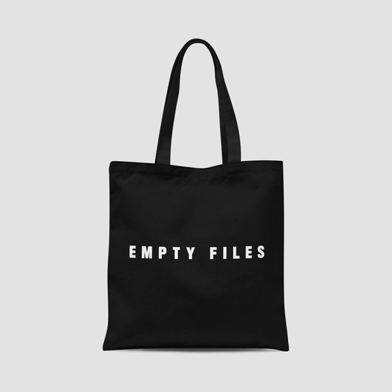 Empty Files Totebag Front